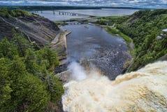 Montmorency-Fälle, Quebec, Kanada Lizenzfreie Stockbilder
