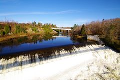 Montmorency fall. Detail of the montmorency fall in quebec Stock Photography