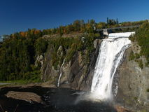 Montmorency falls. Aerial view of the montmorency falls near quebec city Stock Photography