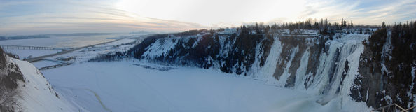 Montmorency Falls panorama Royalty Free Stock Image
