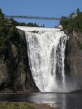 The Montmorency Falls in Quebec City, Canada Royalty Free Stock Photo