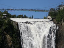 The Montmorency Falls in Quebec City, Canada Stock Images