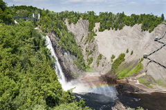 Montmorency Falls rainbow Royalty Free Stock Photography