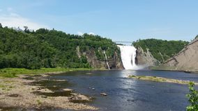 Montmorency Falls. Sunny afternoon at Montmorency Falls royalty free stock image