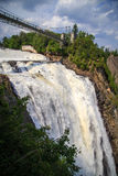 Montmorency Falls suspension bridge Royalty Free Stock Photography