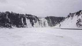 Montmorency Falls waterfall. Royalty Free Stock Image
