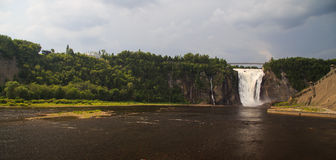 Montmorency Falls wide view Stock Photo