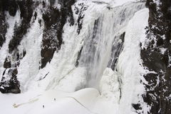 Montmorency ice waterfall Quebec City Stock Images
