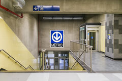 Montmorency metro (stairs and elevator) Royalty Free Stock Images