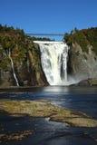Montmorency vattenfall i Quebec Arkivfoto