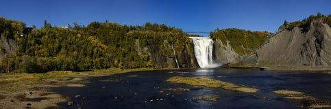 Montmorency vattenfall i Quebec Royaltyfri Bild