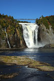 Montmorency waterfall in Quebec Stock Photo