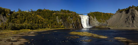 Montmorency waterfall in Quebec Royalty Free Stock Image