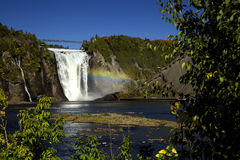 Montmorency waterfall in Quebec Stock Image