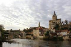 Montmorillon Frankrike Fotografering för Bildbyråer