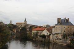 Montmorillon Frankrike Royaltyfria Foton