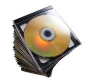 Montón CD Imagen de archivo libre de regalías
