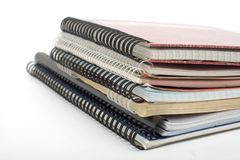 Montón de copy-books viejos Fotografía de archivo