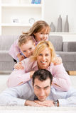 Montón de la familia en el país Foto de archivo libre de regalías