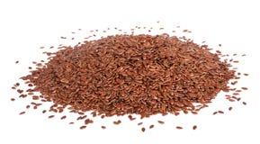 Montón de las semillas de lino Imágenes de archivo libres de regalías