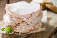Montão da faixa cortada do peito de frango Foto de Stock Royalty Free