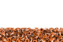 Montão da rendição dos cones da estrada que encontram-se cada um em outro Foto de Stock