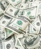 Montão de várias centenas dólares Foto de Stock Royalty Free