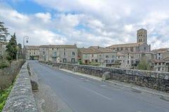 Montolieu, wioska w Południowym Francja Zdjęcia Royalty Free
