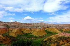 Montones amarillos, parque nacional de los Badlands, SD Imagen de archivo libre de regalías