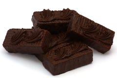 Montones de las tortas de chocolate Fotografía de archivo