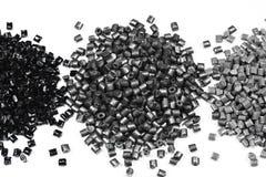 3 montones de polímero gris Fotos de archivo libres de regalías