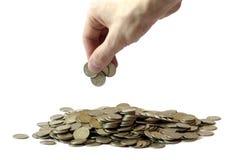 Montones del dinero Imágenes de archivo libres de regalías