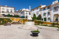 Montorinho喷泉在Martires da Republica广场 免版税库存图片