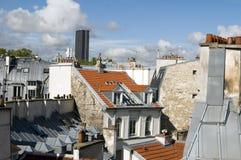 Στέγες του πιό ψηλού κτιρίου γραφείων Montparn του Παρισιού Γαλλία Ευρώπη Στοκ Φωτογραφίες