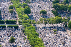 Montparnasse cemetery aerial view Royalty Free Stock Image