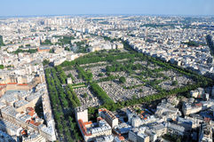 Montparnasse cemetery aerial view Royalty Free Stock Photography