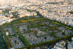 Montparnasse Cemetery in Paris Royalty Free Stock Photos