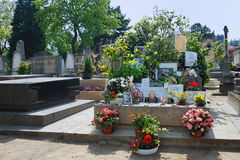 Montparnasse cemetery - Tomb of Serge Gainsbourg Stock Photos
