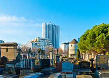 Montparnasse Cemetery Stock Photo