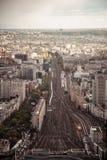 Montparnasse drevstation, Paris, Frankrike Arkivfoto