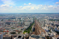 Montparnasse station aerial view Royalty Free Stock Photo