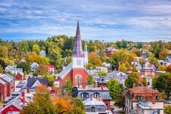 Montpelier, de Stadshorizon van Vermont Stock Foto's
