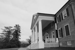 Montpelier Madison home in B&W Royalty Free Stock Images