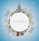 Montpelier (Vermont) city skyline with grey buildings  Stock Photography