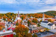 Montpelier, Vermont Skyline. Montepelier, Vermont, USA autumn town skyline Royalty Free Stock Photo