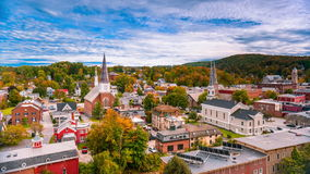 Montpelier, Vermont Townscape stock video footage