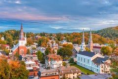Montpelier Vermont, USA horisont Royaltyfri Fotografi