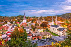 Montpelier, Vermont, USA. Town skyline in early autumn Stock Image