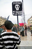 MONTPELLIER, 23. SEPTEMBER - ALLGEMEINE DEMONSTRATION Lizenzfreies Stockfoto