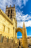 Montpellier Cathedral of Saint Pierre - France Stock Photo